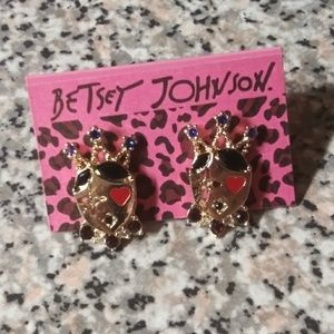 Betsey Royal Face Studs NWT